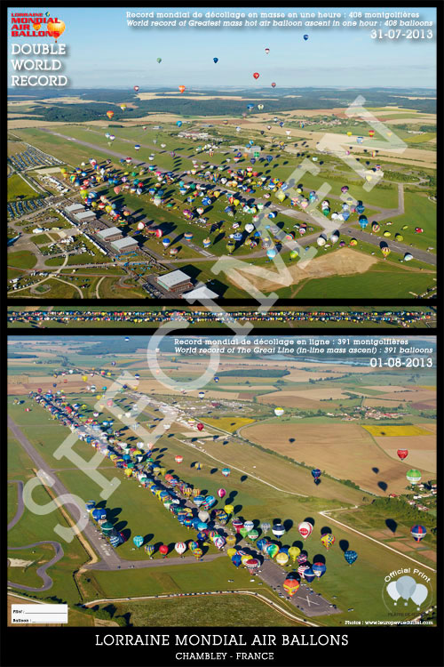 Lorraine Mondial Air Ballons 2013 - Official picture of the double world record