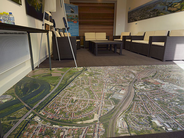 Photo aérienne en décoration de sol