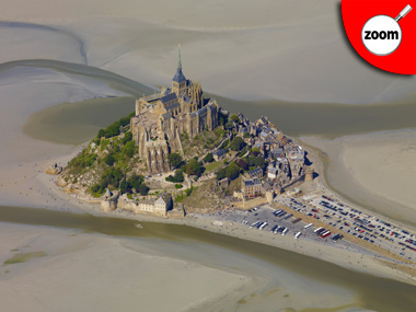 Photo aérienne du Mont Saint Michel