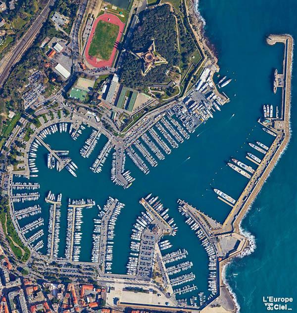 Meilleure photo aérienne verticale - Le port Vauban - Antibes