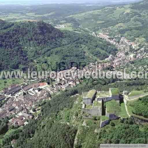 L 39 europe vue du ciel photos a riennes de salins les for Piscine salins les bains