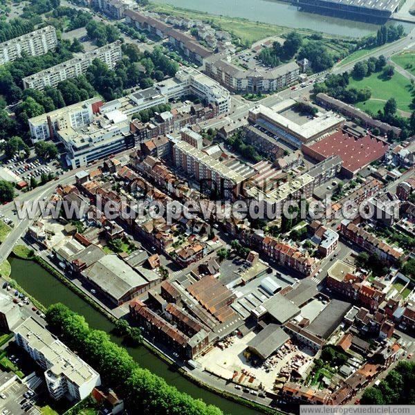 Photos aériennes de Lille (59000) Le Quartier Bois Blancs Nord, Nord Pas de Calais, France  # Quartier Bois Blanc Lille