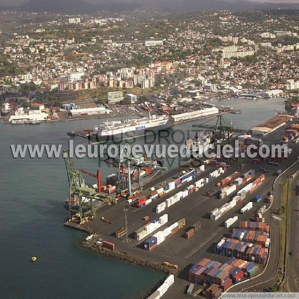 Photos a riennes de fort de france 97200 le port martinique martinique france l 39 europe - Le port de fort de france ...