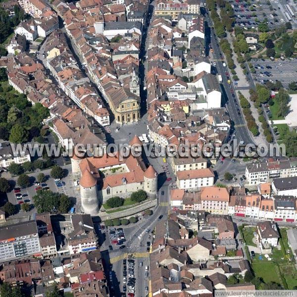 L 39 europe vue du ciel photos a riennes de yverdon les for Location yverdon suisse